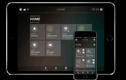 Loxone ovládání chytrého domu přes tablet nebo mobil